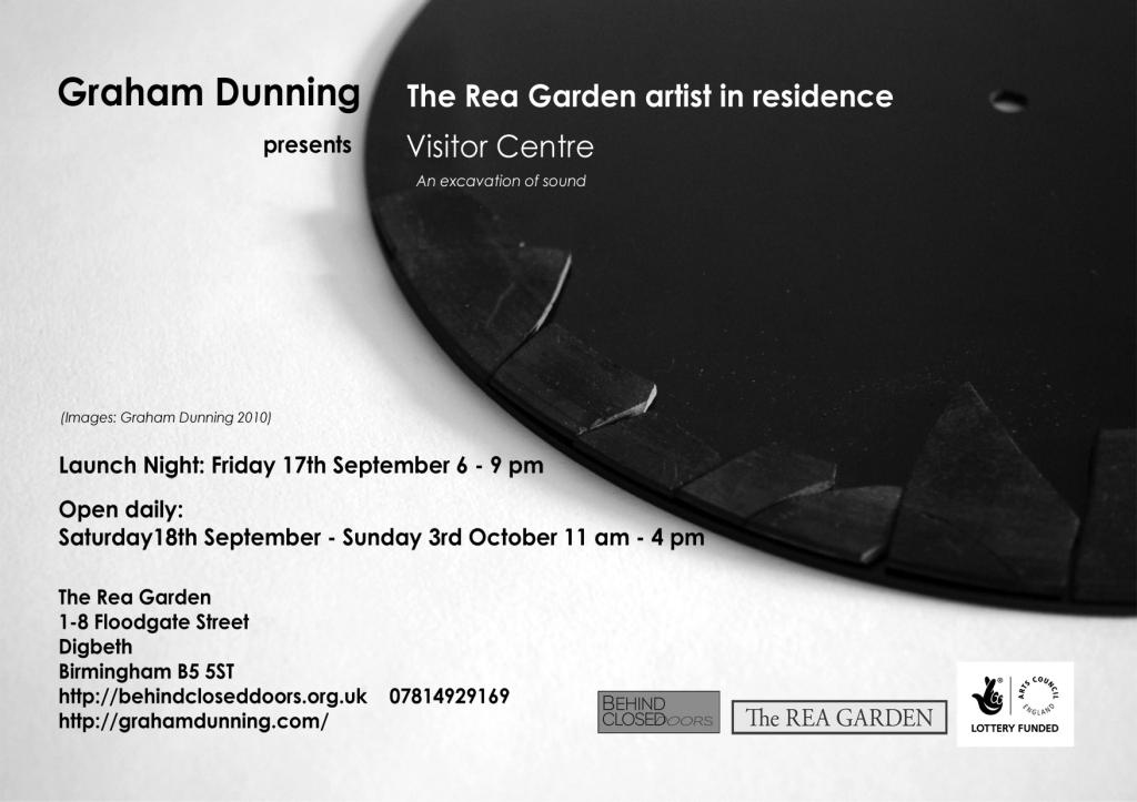 Graham Dunning - Visitor Centre flier reverse