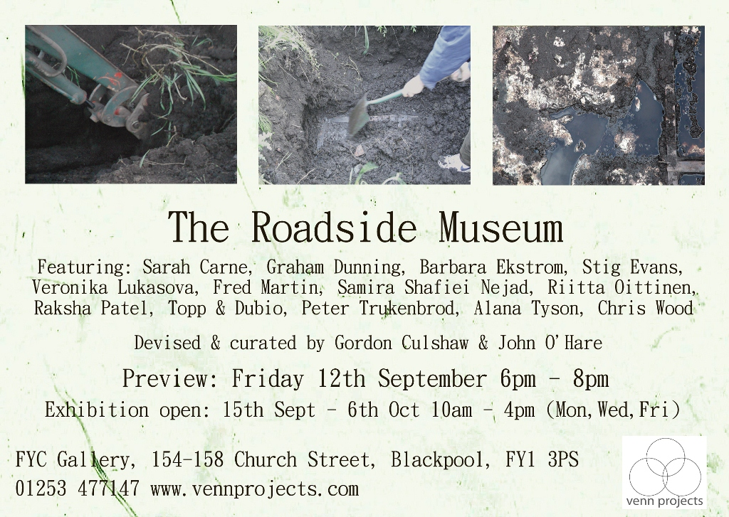 The Roadside Museum at Venn Projects flyer