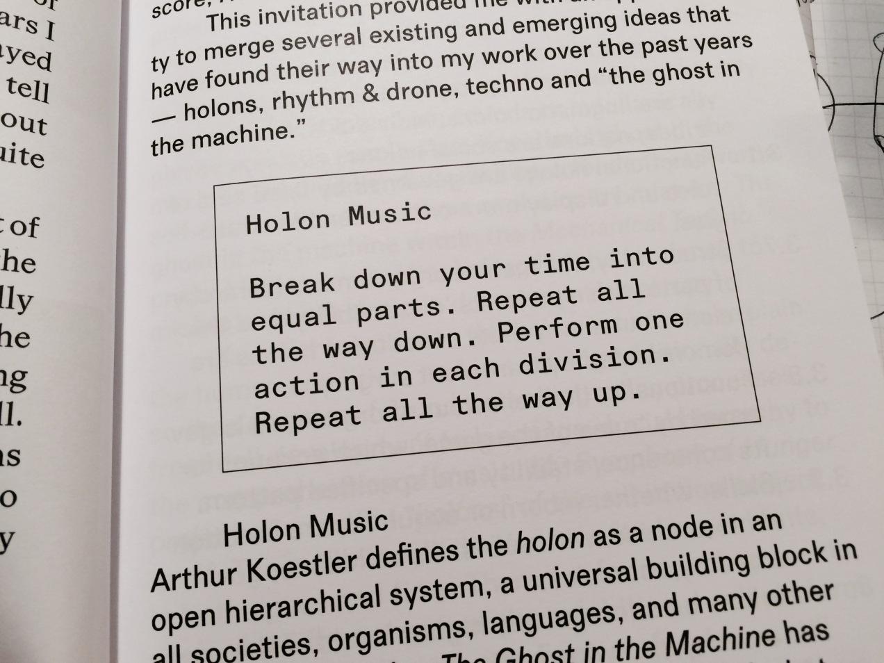 holon music score